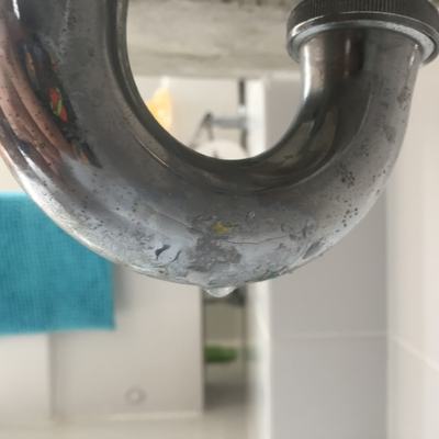 leaking pipe under sink